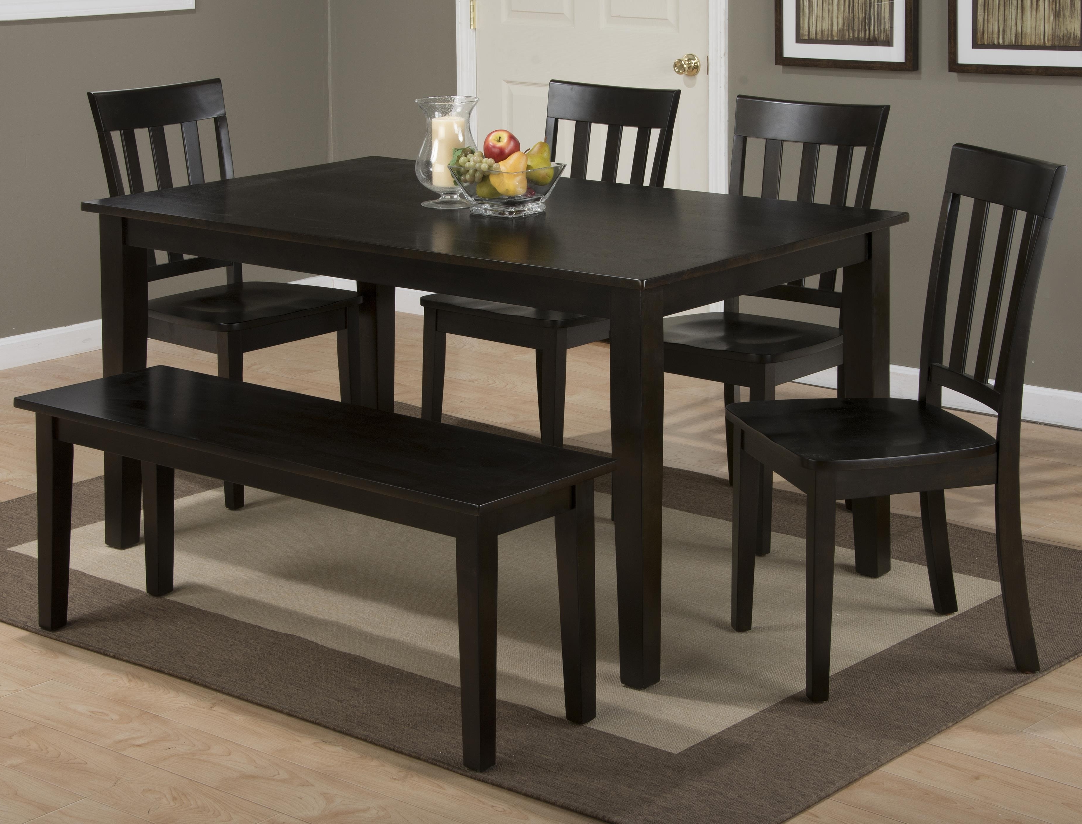 "Jofran Simplicity Rectangle Dining Table And (""x"" Back) Chair Set Inside Favorite Lindy Espresso Rectangle Dining Tables (View 5 of 25)"