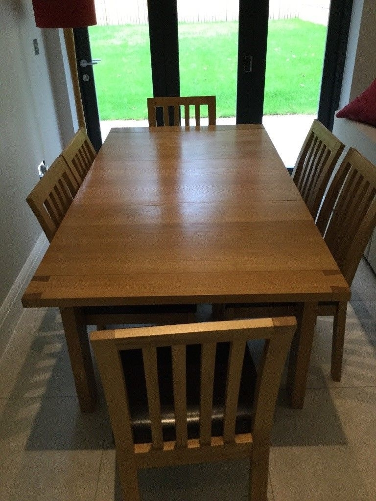 John Lewis Rectangular 4 6 Seater Extending Dining Table In Oak Plus Regarding 2017 Oak Extending Dining Tables And 6 Chairs (Gallery 15 of 25)