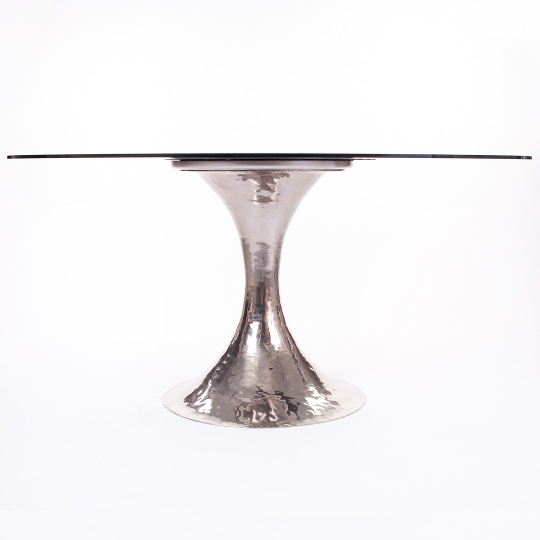 "Julian Chichester ""dakota"" Dining Table W/polished Nickel Base With Regard To Newest Chichester Dining Tables (View 20 of 25)"