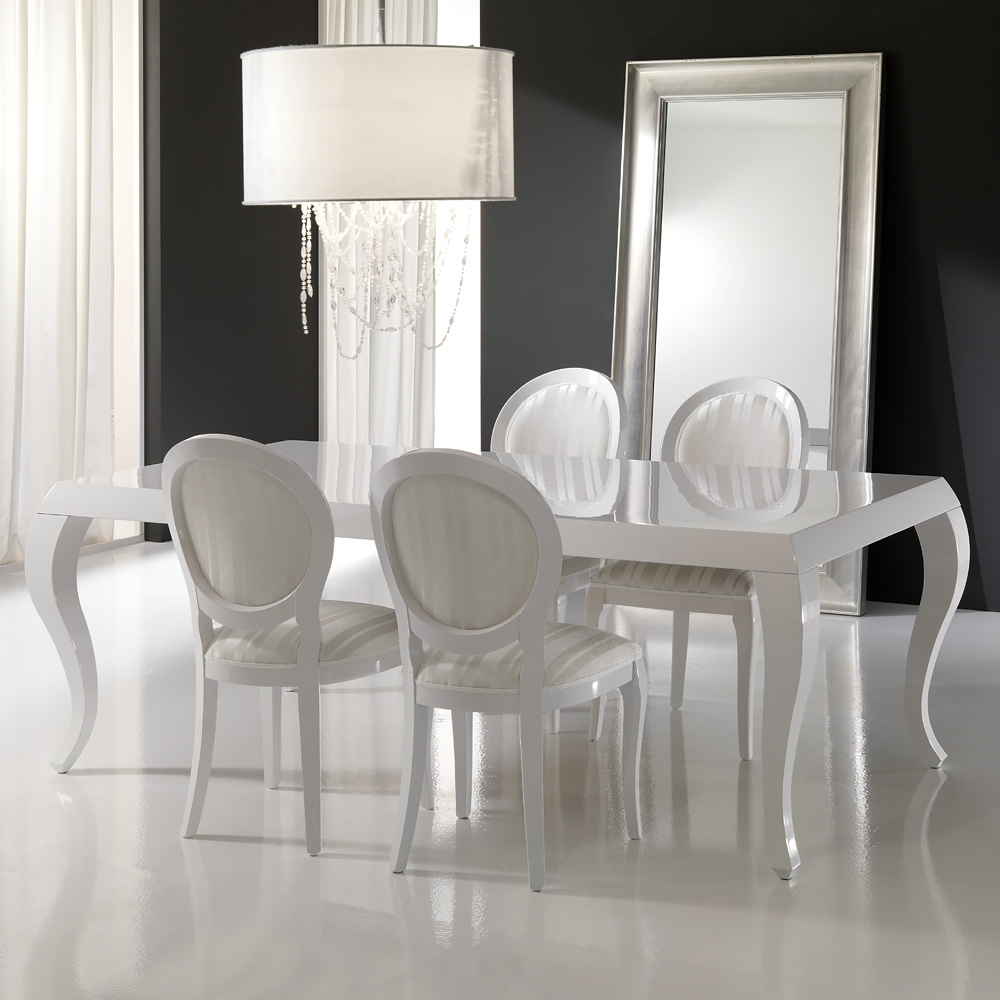 Juliettes pertaining to Most Recent Gloss White Dining Tables