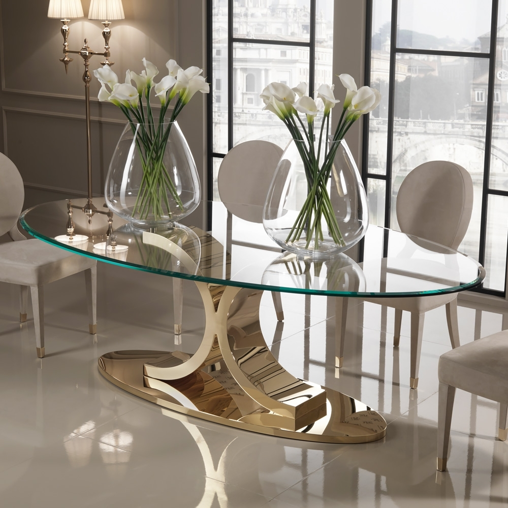 Juliettes Within Glass Dining Tables (Gallery 4 of 25)
