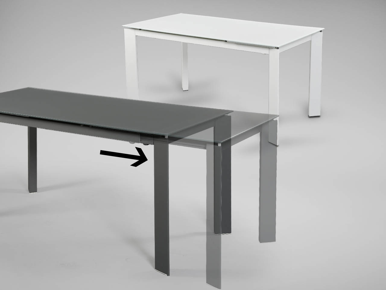 Kamada Extendable Dining Table – W1500/1900 – White (Gallery 23 of 25)