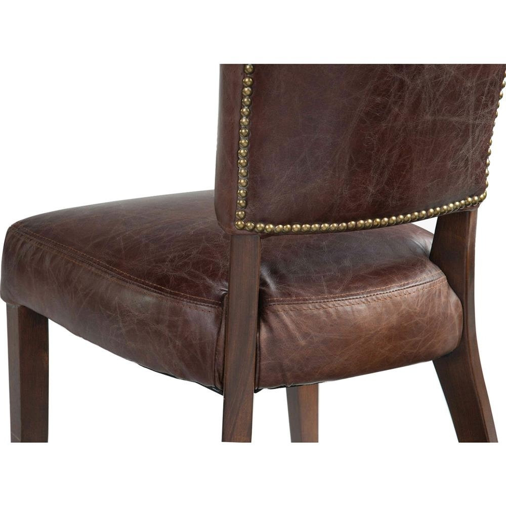Kathy Kuo Home Throughout Widely Used Brown Leather Dining Chairs (View 25 of 25)