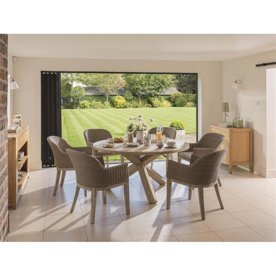 Kettler Cora 150Cm Round Dining Table Wi for Newest Cora Dining Tables