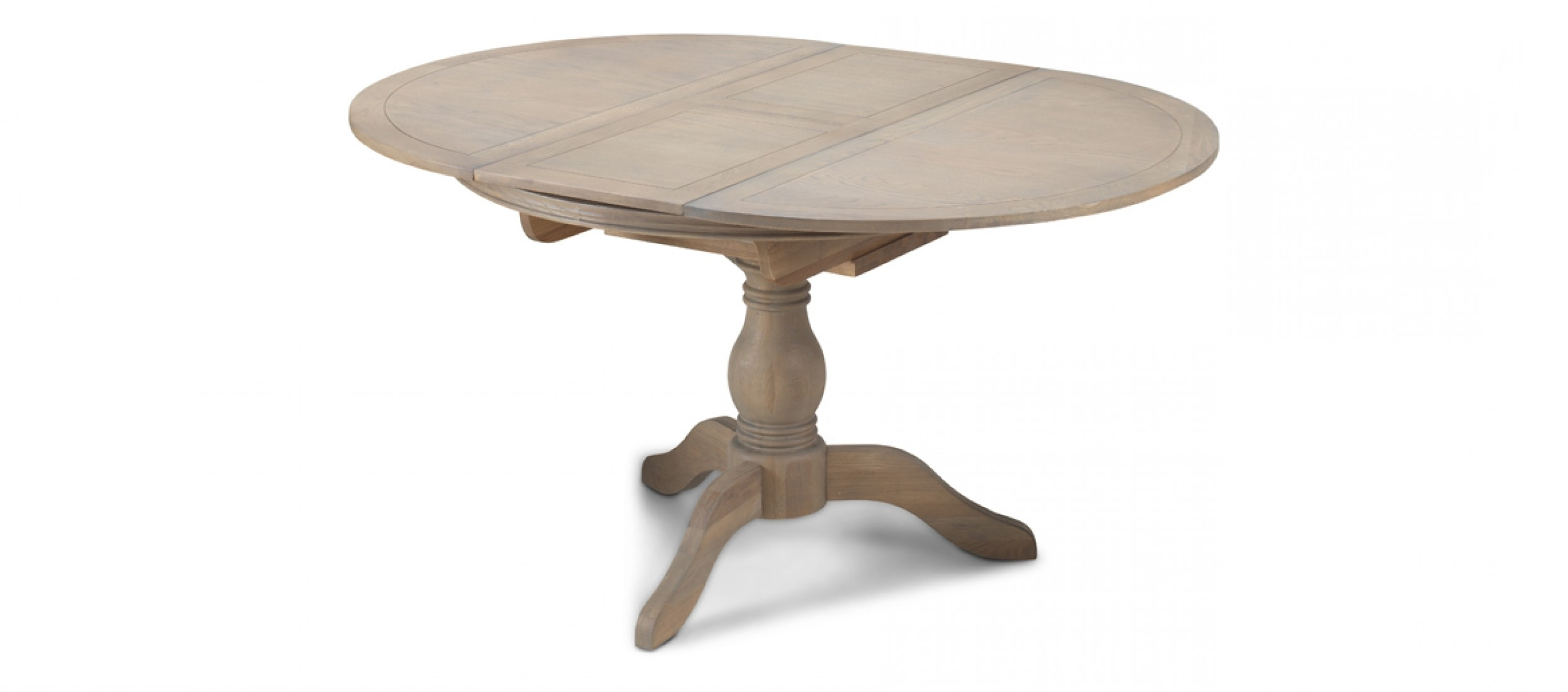 Kilmar Oak Living & Dining Ciruclar Extended Dining Table – Quercus Pertaining To Favorite Extended Round Dining Tables (View 11 of 25)