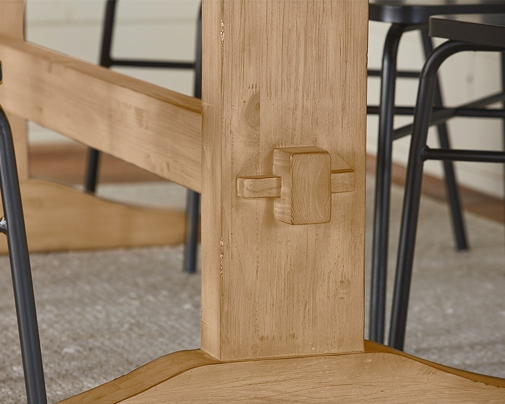 Kindred Trestle Table – Magnolia Home Regarding Preferred Magnolia Home Sawbuck Dining Tables (Gallery 19 of 25)
