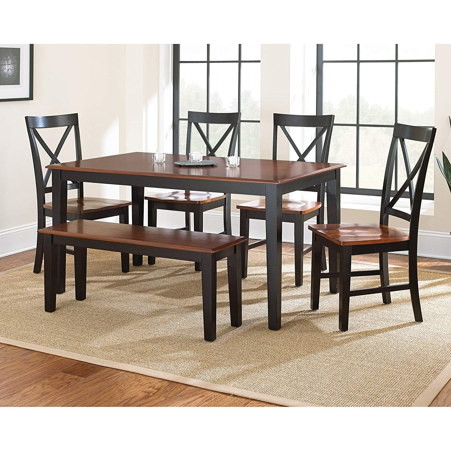 Kingston Dining Tables And Chairs Within Newest Amazon – Steve Silver Company Kingston Dining Table, Oak/black (View 13 of 25)