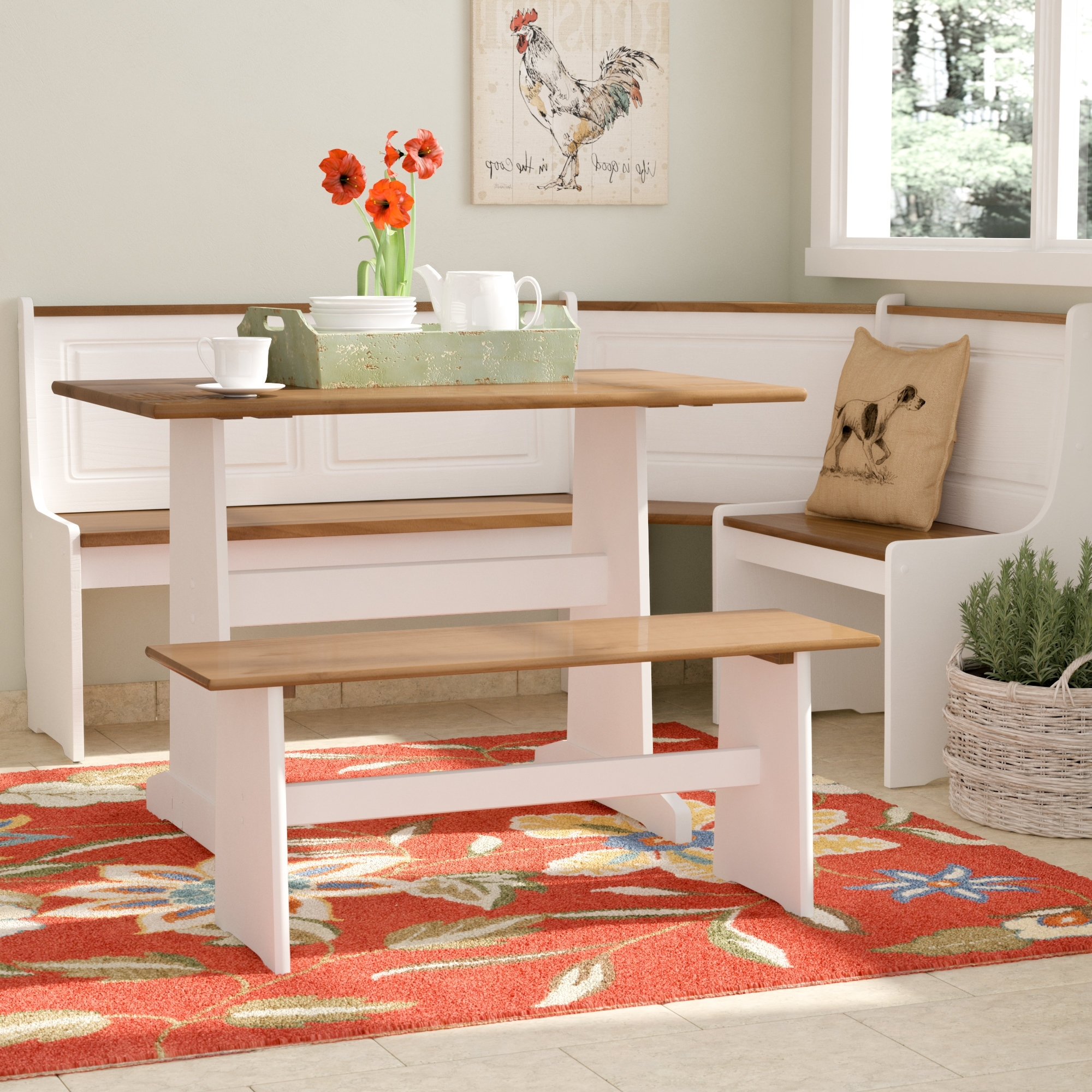 Kirsten 6 Piece Dining Sets Inside Well Liked August Grove Birtie 3 Piece Breakfast Nook Dining Set & Reviews (View 20 of 25)