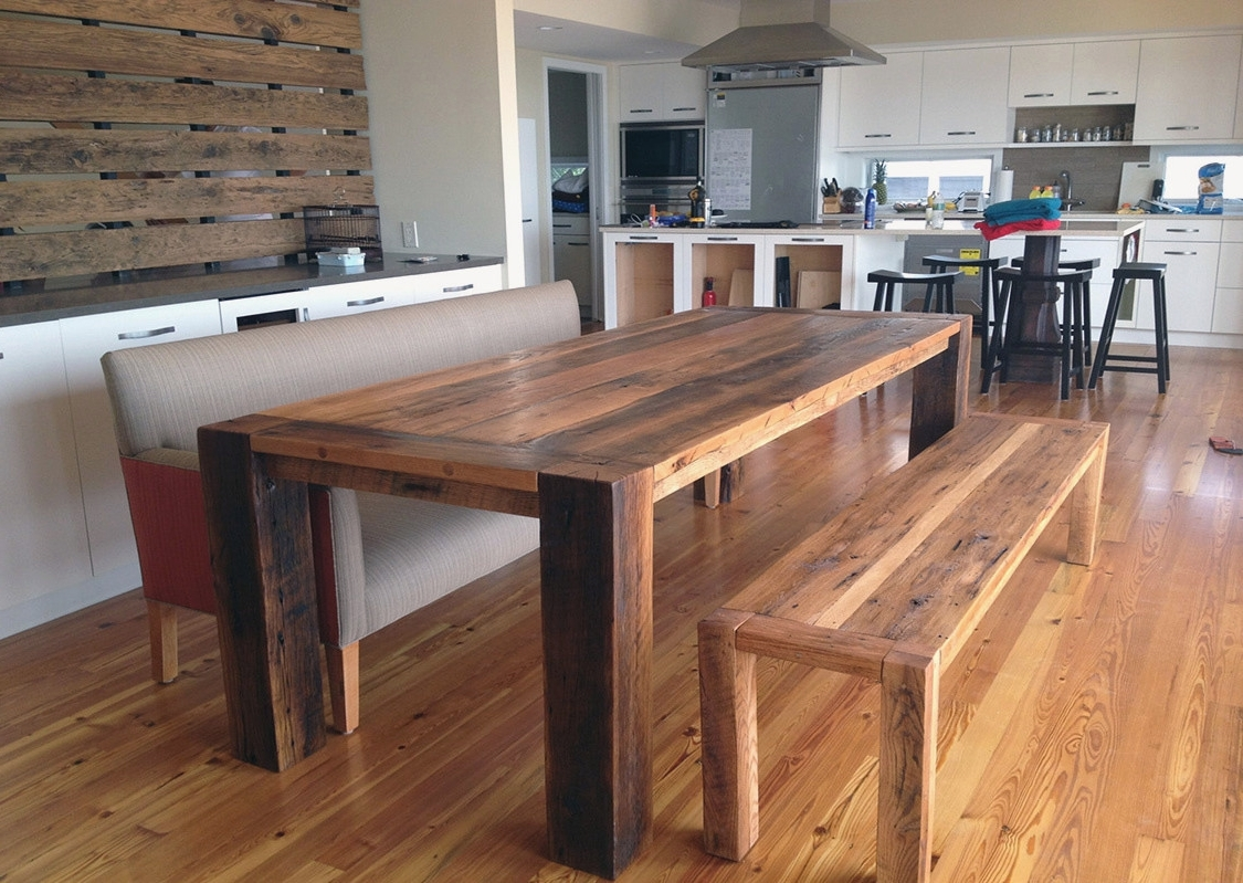 Kitchen Table Bench With Back Lovely Kitchen Table Bench Plans Best Throughout Fashionable Bench With Back For Dining Tables (Gallery 19 of 25)