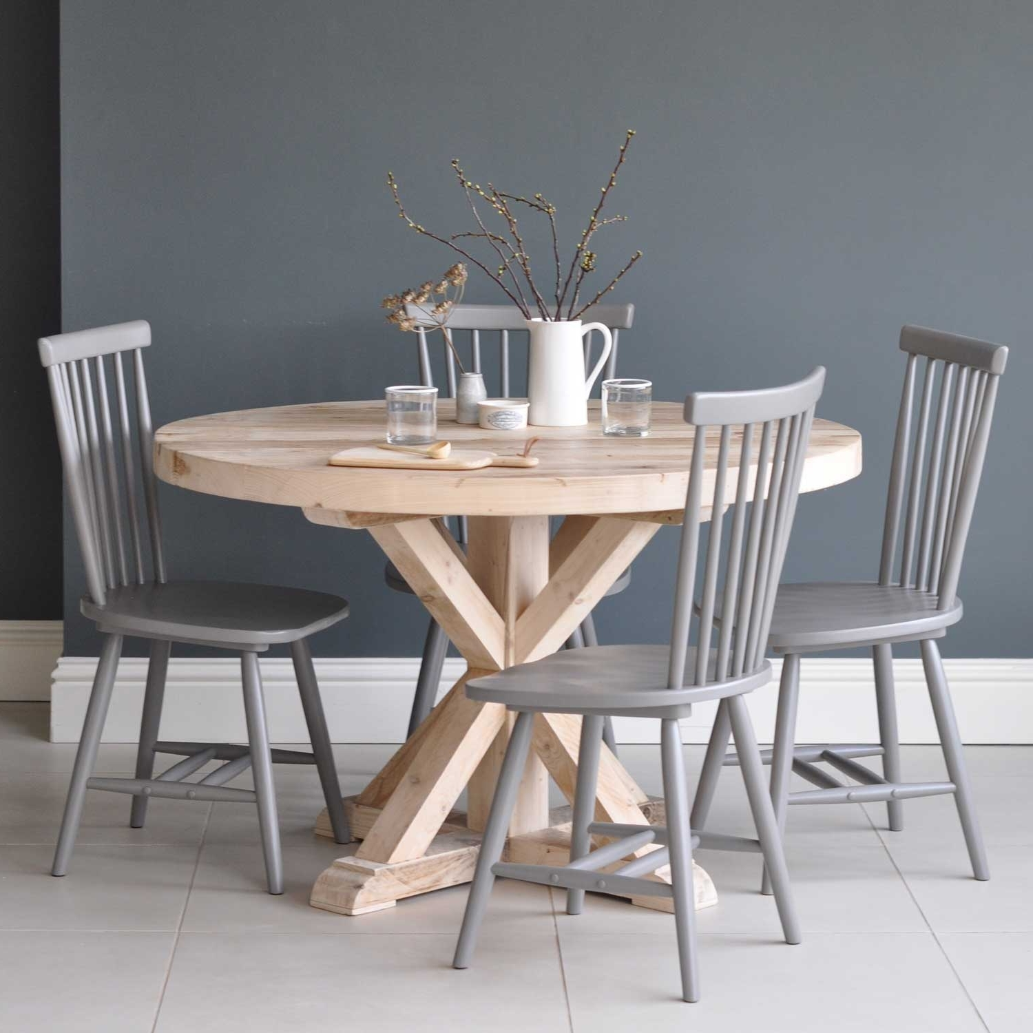 Large Circular Dining Tables With Fashionable Circular Reclaimed Wood Round Dining Table – Home Barn Vintage (View 12 of 25)