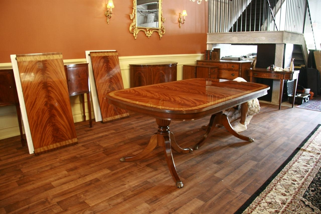 Large High End Mahogany Dining Table Seats 12 14 With Latest Extending Dining Tables With 14 Seats (View 16 of 25)