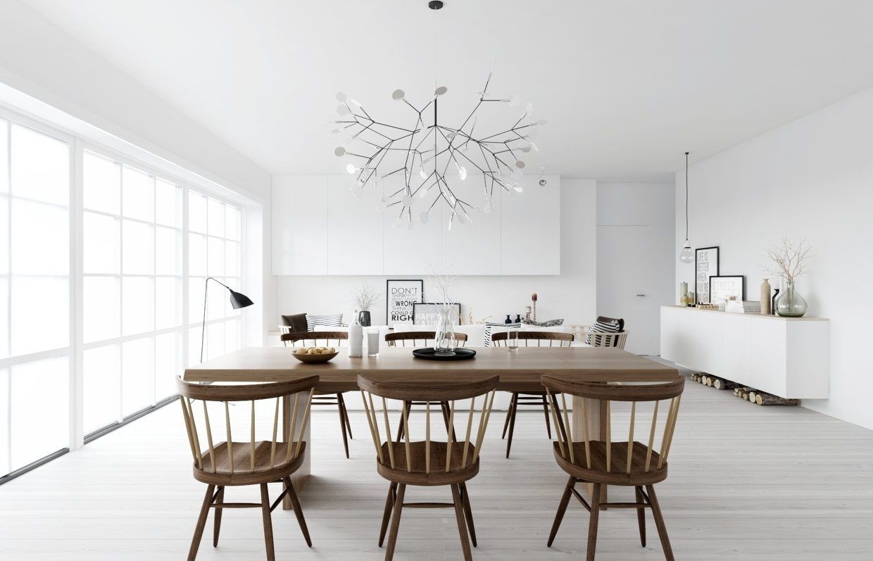 Large Rustic Dining Table Sets Scandinavian Dining Room Furniture   In Current Scandinavian Dining Tables And Chairs (View 8 of 25)