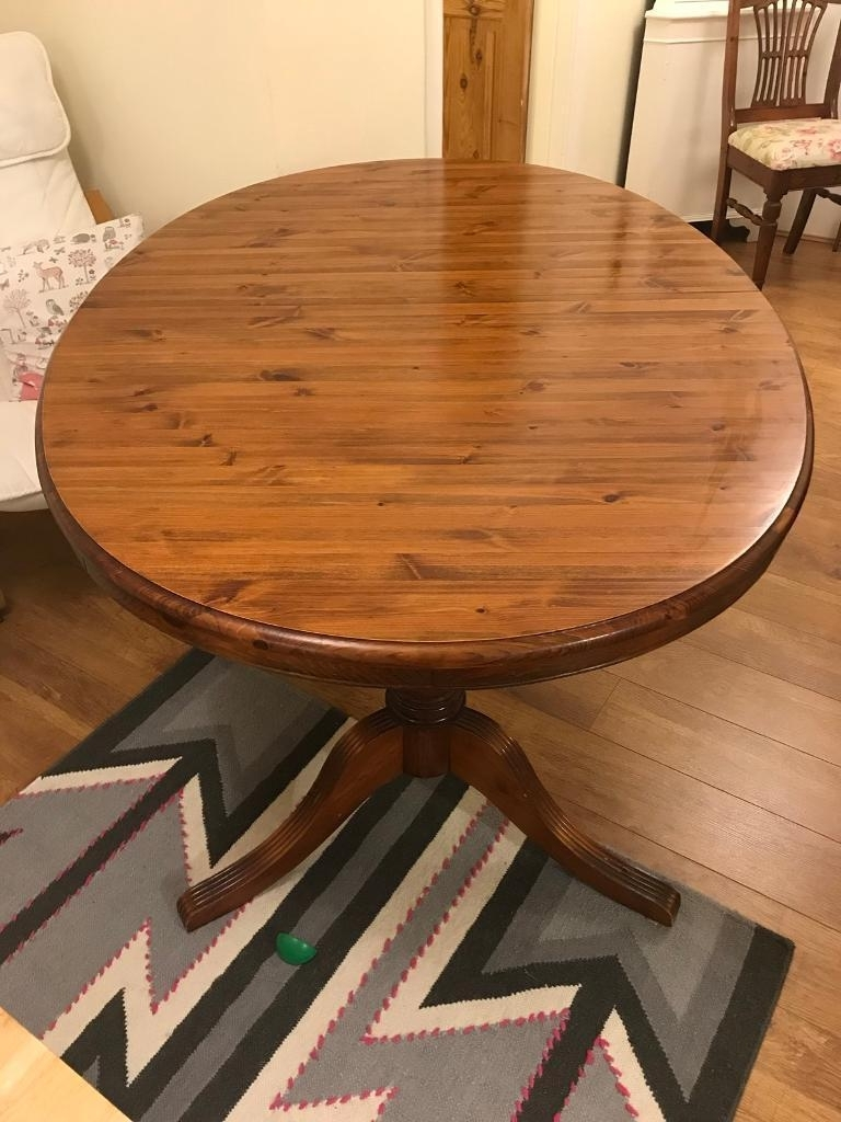 Large Solid Wood Extendable Dining Table (5' X 3' Non Extended) £50 Pertaining To Recent Non Wood Dining Tables (View 2 of 25)