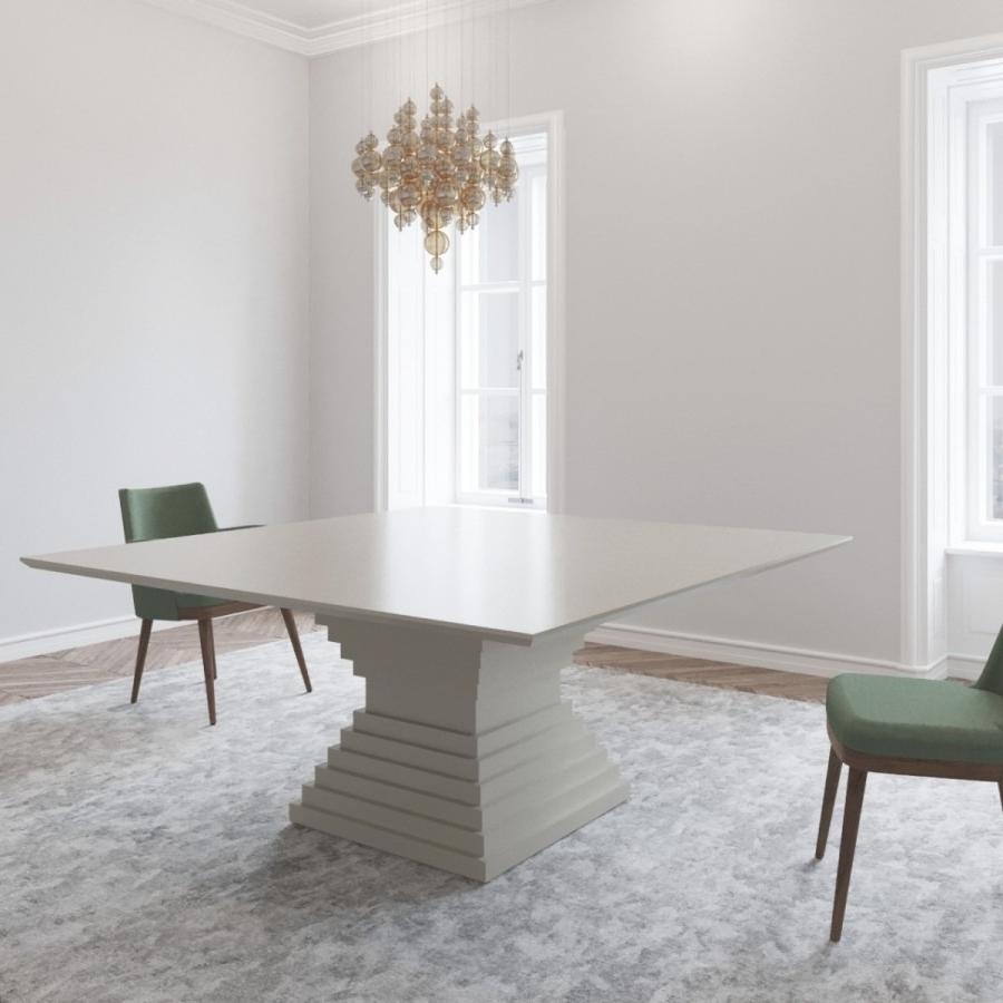 Large White Gloss Dining Tables With Most Recent Stunning Large 1800 Square White Gloss Dining Table From Gual (View 17 of 25)