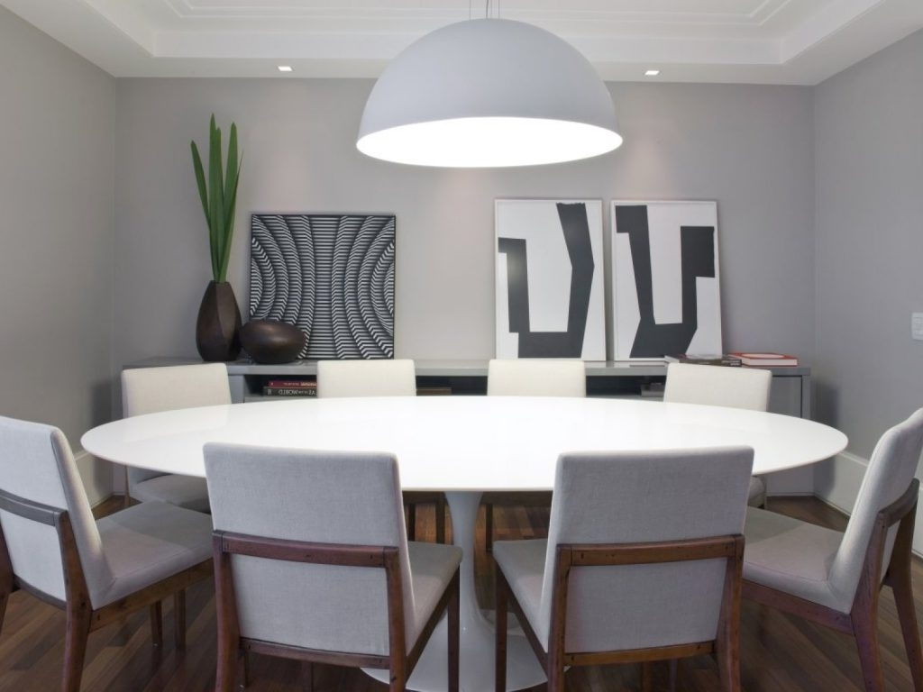 Large White Round Dining Tables Within Favorite Dining Room Table : White Round Dining Table Modern Extending (View 7 of 25)