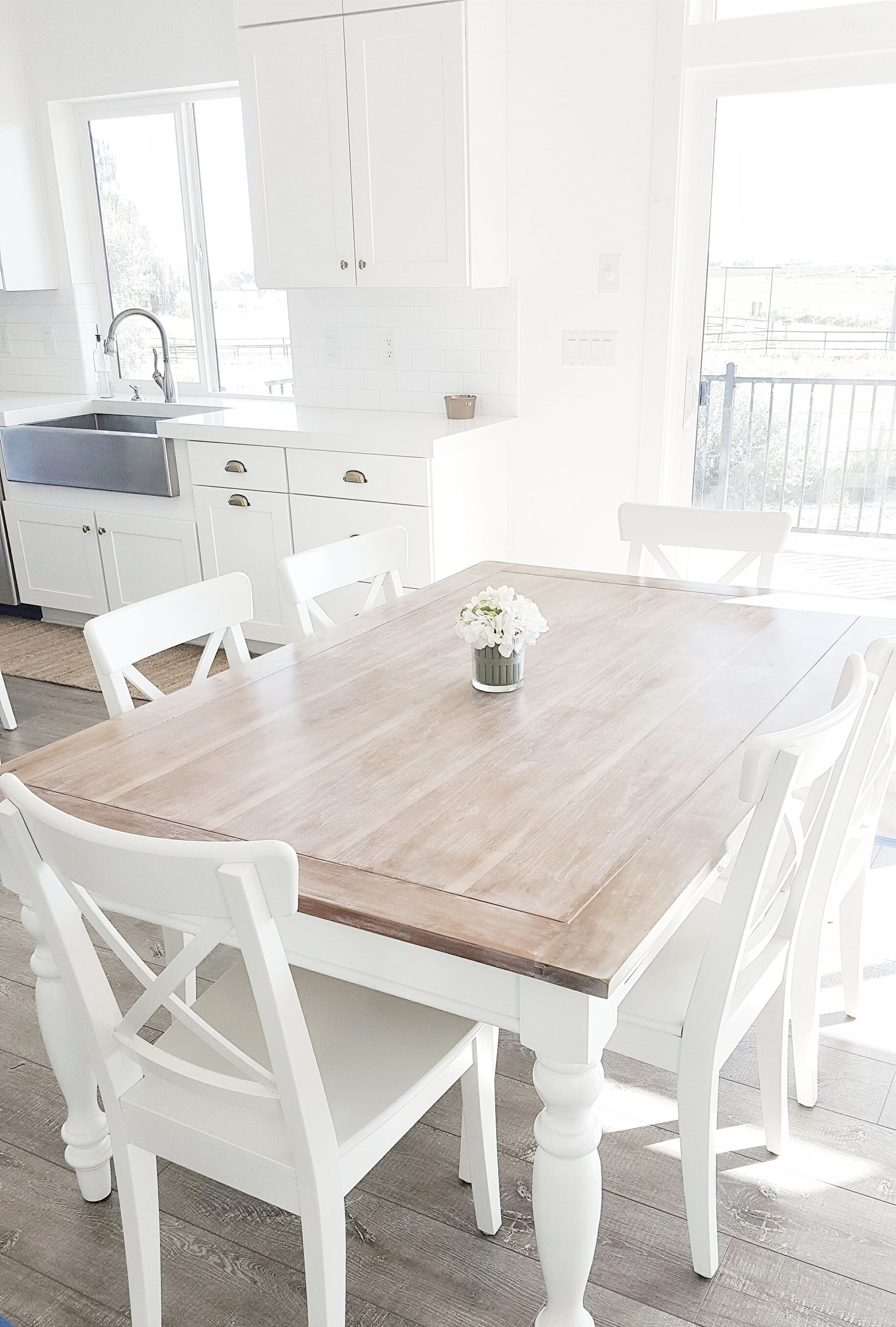 Lassen 5 Piece Round Dining Sets Inside Well Liked Whitelanedecor @whitelanedecor Dining Room Table, Liming Wax Table (View 8 of 25)