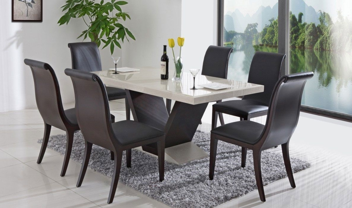 Lassen 7 Piece Extension Rectangle Dining Sets For Fashionable Hotel Interior, Using Unique Dining Table Designs For Dinner (View 10 of 25)