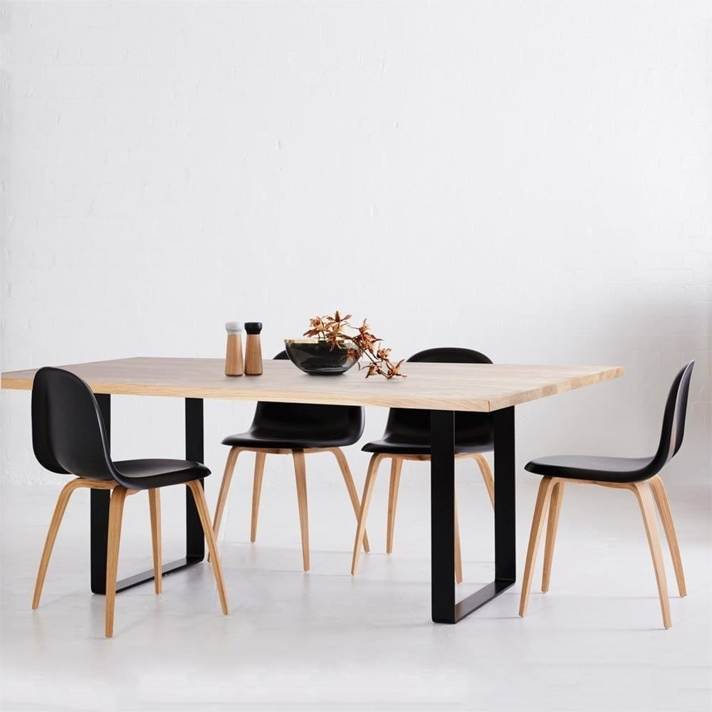 Lassen Round Dining Tables With Regard To Most Popular Designer Industrial Pyrmont Wooden Dining Table  Black Steel Legs (View 13 of 25)