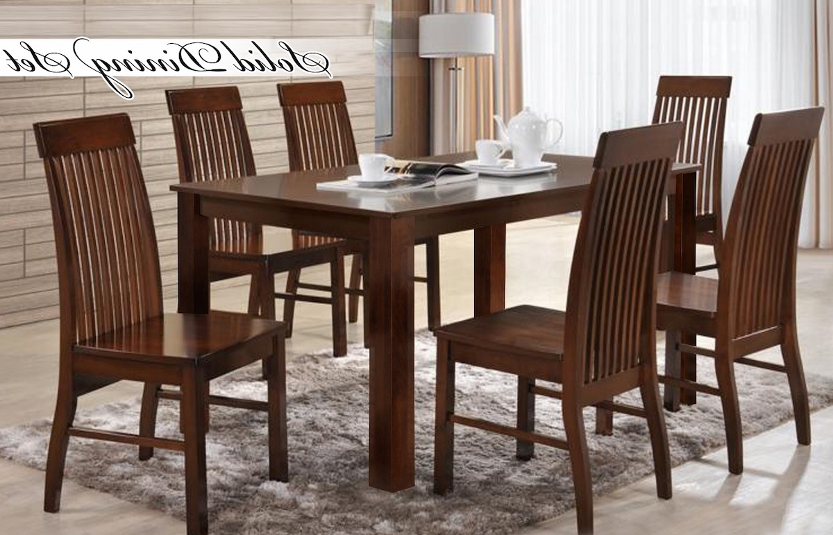 Latest 6 Seat Dining Tables And Chairs In Toni 6 Seater Dining Set (View 13 of 25)