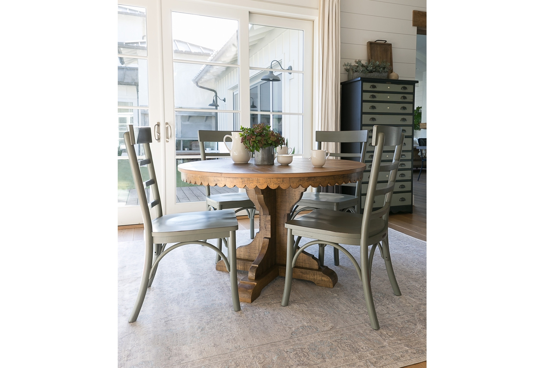 Latest 63X90 Rug Magnolia Home Ella Rose Natural/naturaljoanna Gaines Intended For Magnolia Home Top Tier Round Dining Tables (View 7 of 25)