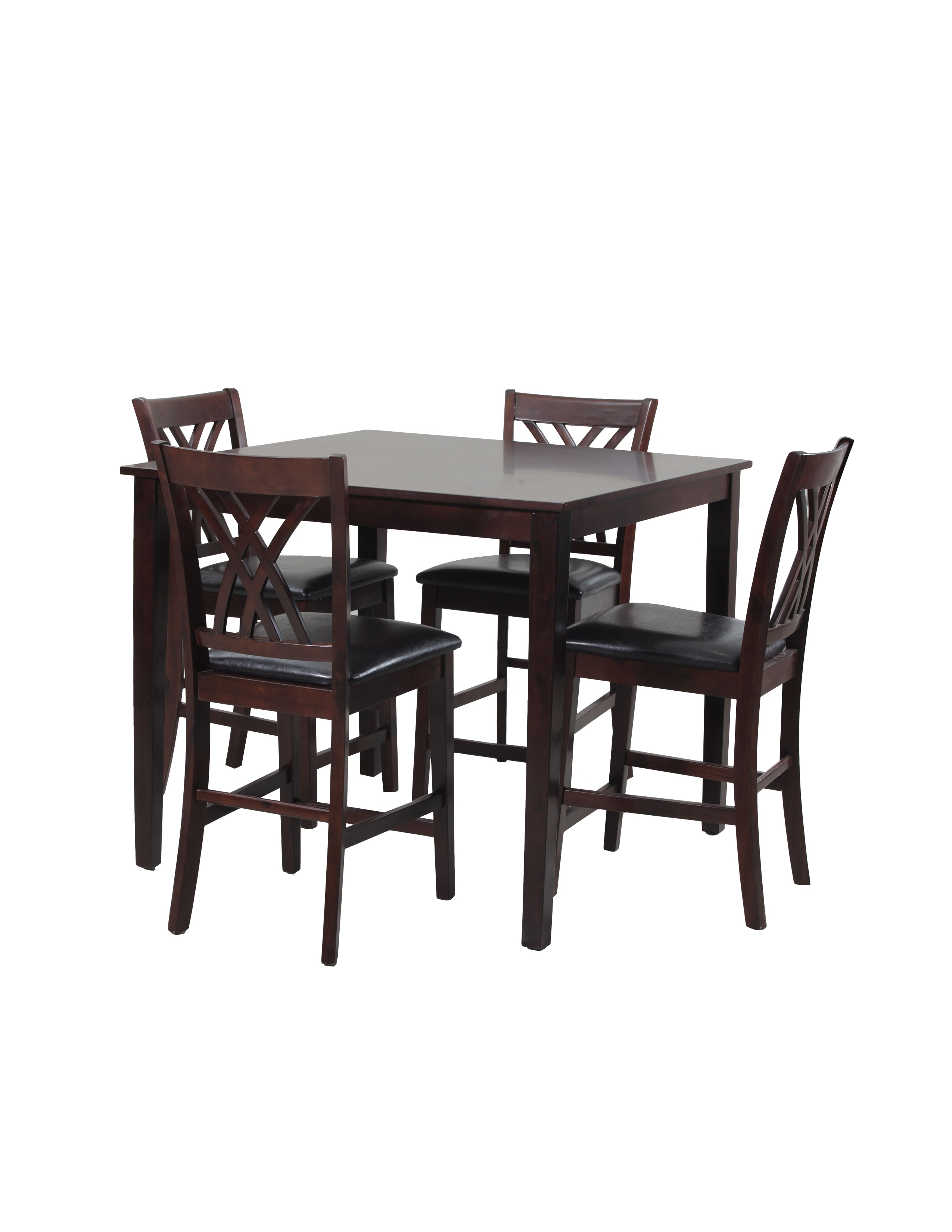 Latest Acme Rolle 5 Piece Counter Height Dining Set, Faux Marble And With Regard To Pierce 5 Piece Counter Sets (View 9 of 25)