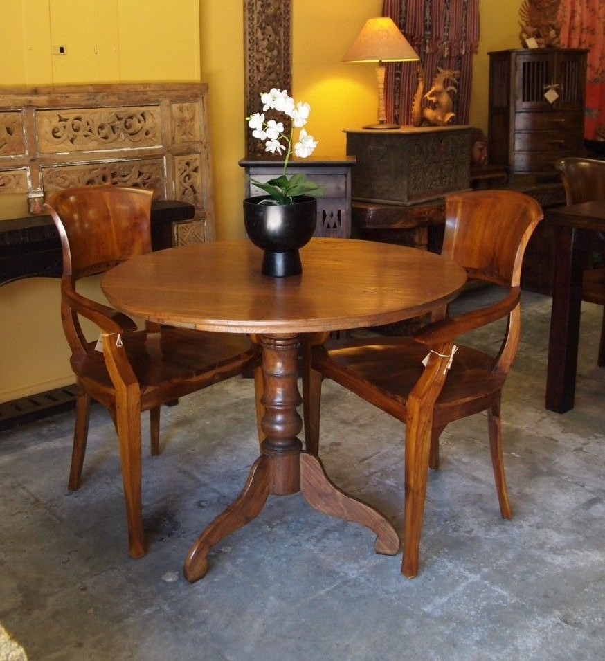 Latest Balinese Dining Tables Intended For Teak Colonial Table & Teak Chairs From Gadogado (View 17 of 25)