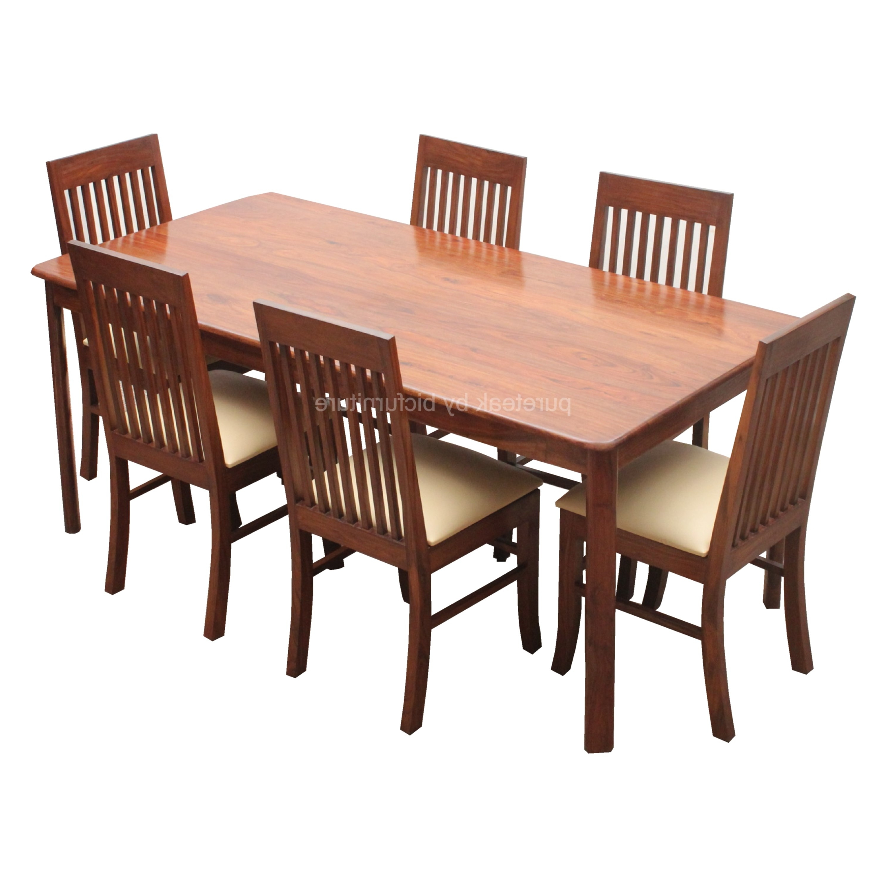 Latest Beautiful 6 Seater Dining Table Sets Made In Solid Wood Pertaining To Dining Tables For Six (View 15 of 25)