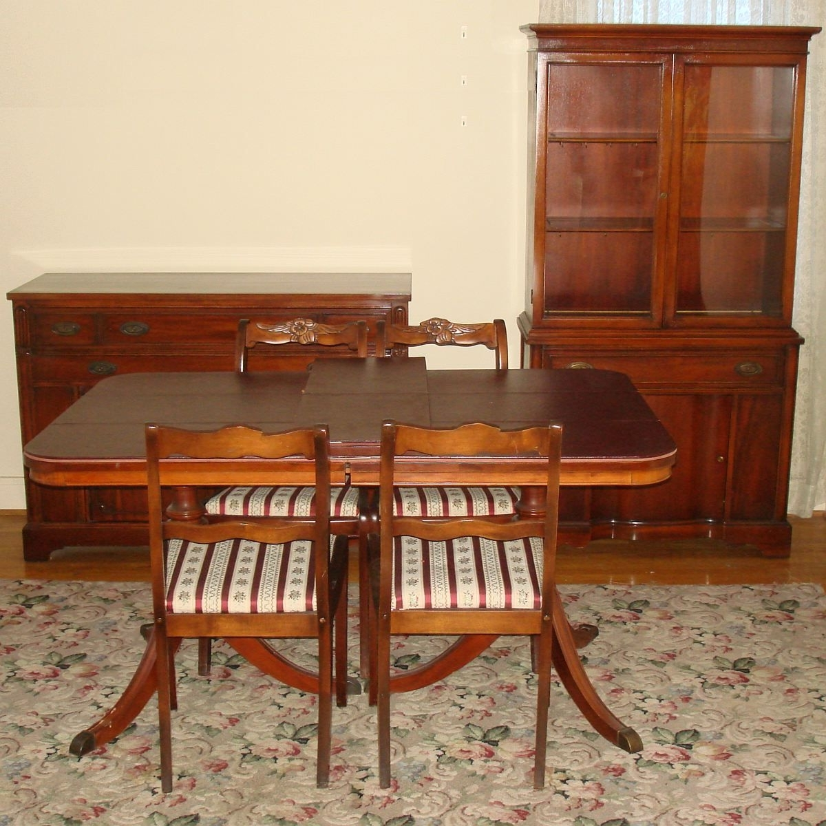 Latest Bernhardt Duncan Phyfe Mahogany Dining Room Set Double Pedestal Inside Mahogany Dining Tables Sets (View 9 of 25)