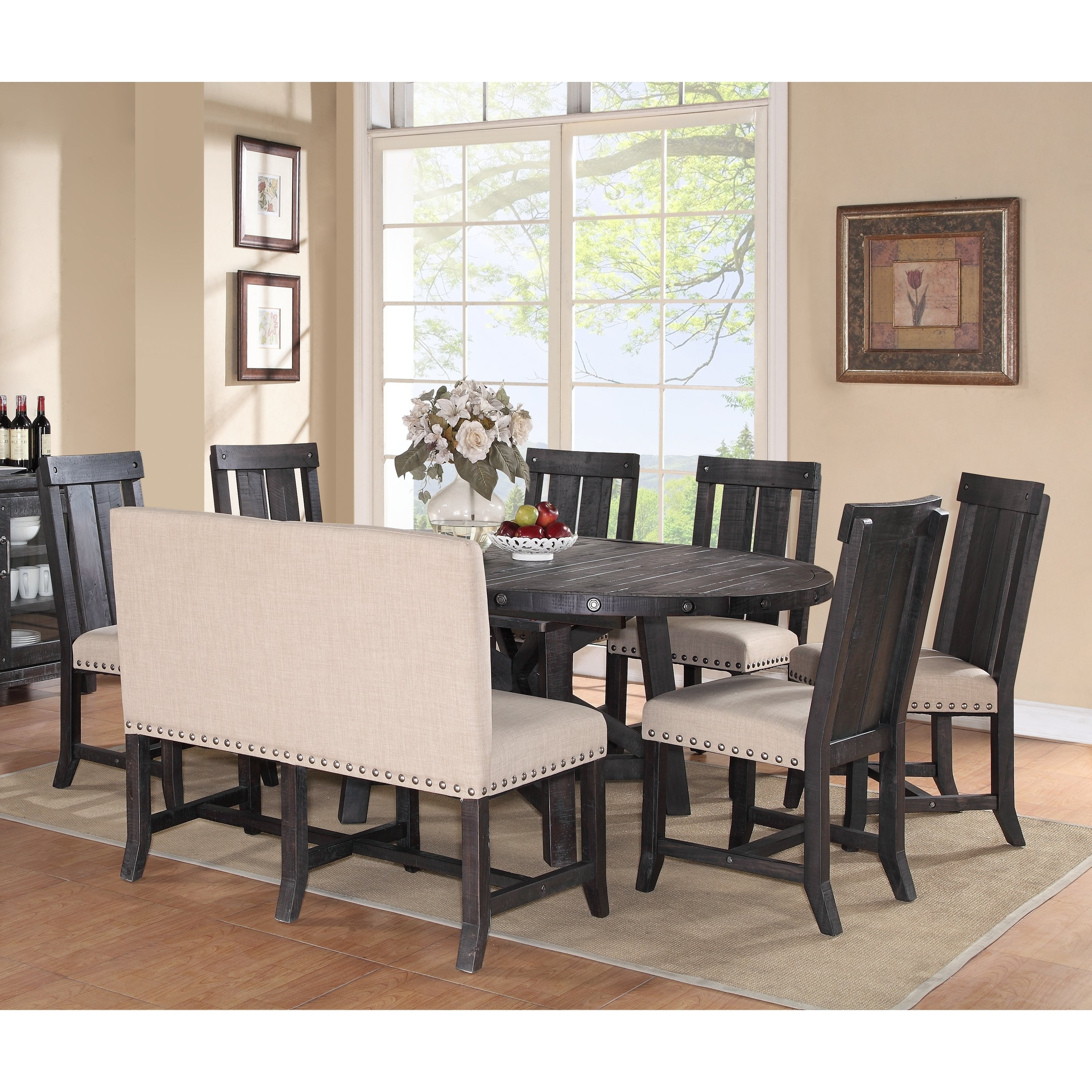 Latest Chandler 7 Piece Extension Dining Sets With Wood Side Chairs Intended For Coffee Table Dinner Table New Weston Home Two Tone 7 Piece Extension (View 15 of 25)
