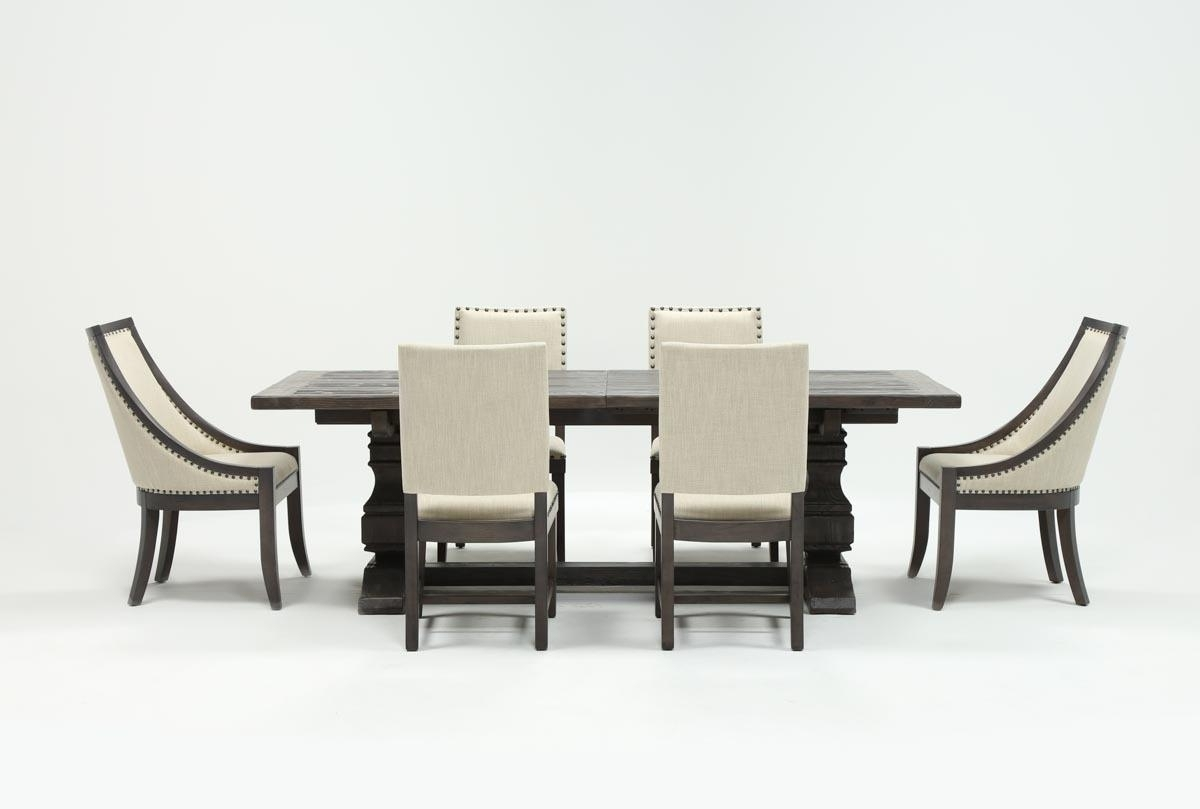 Latest Combs 5 Piece Dining Sets With  Mindy Slipcovered Chairs Regarding Norwood 7 Piece Rectangle Extension Dining Set (View 14 of 25)