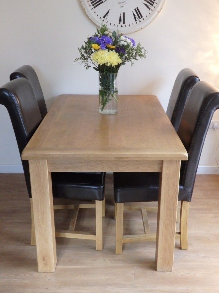 Latest Cotswold Oak Dining Table And 6 Leather Dining Chairs (View 12 of 25)