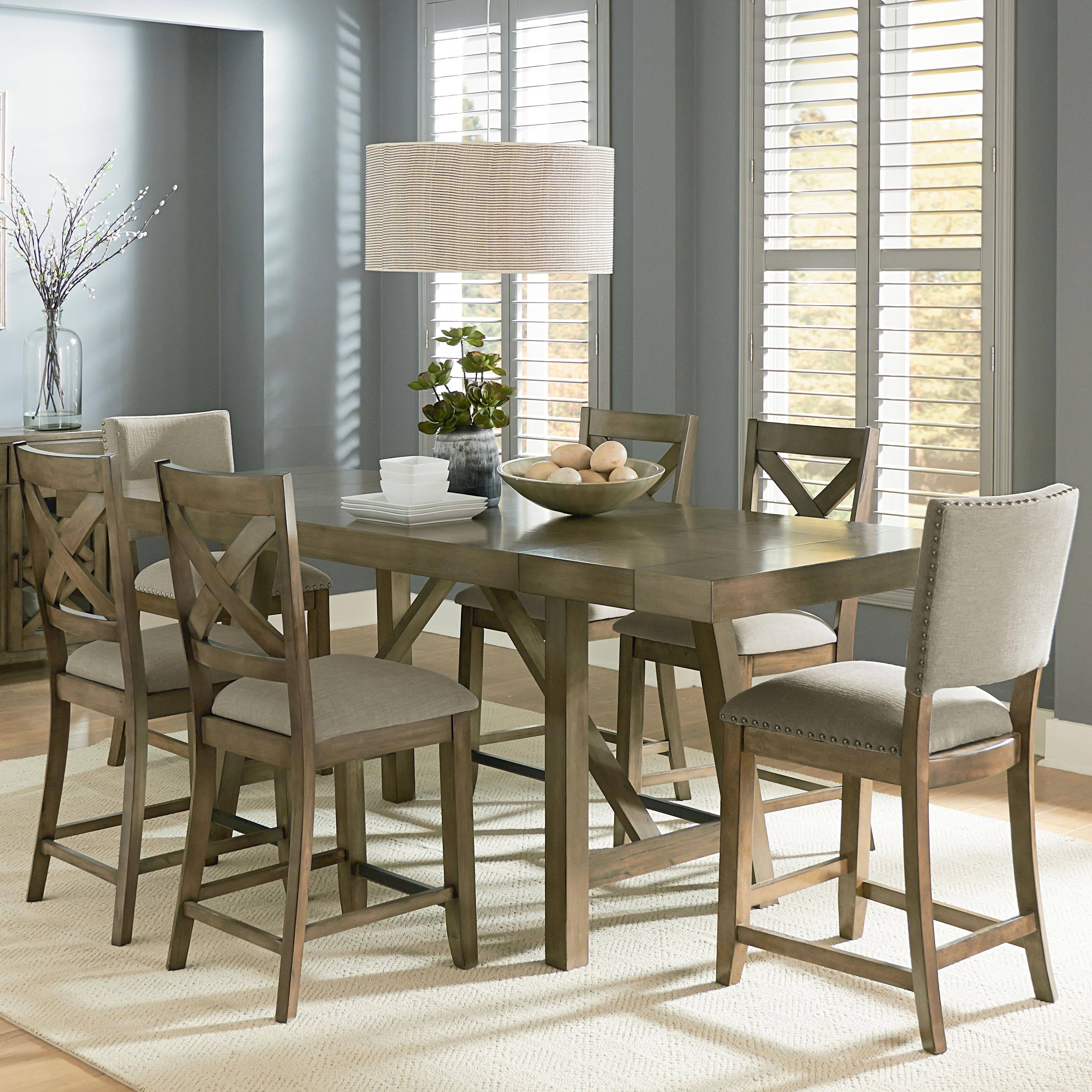 Latest Counter Height 7 Piece Dining Room Table Setstandard Furniture Within Parquet 7 Piece Dining Sets (View 11 of 25)