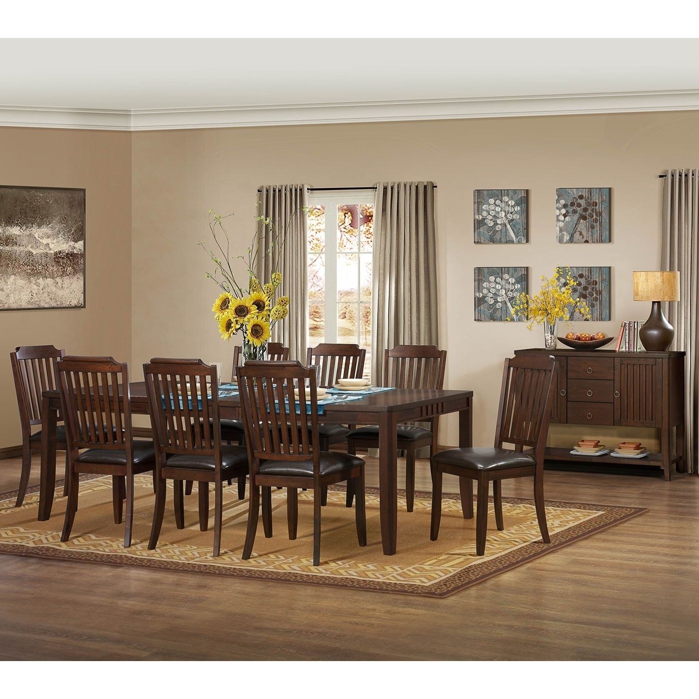 Latest Craftsman 7 Piece Rectangle Extension Dining Sets With Arm & Side Chairs Pertaining To Homelegance 5101 92 Dickens Dining Table (View 10 of 25)