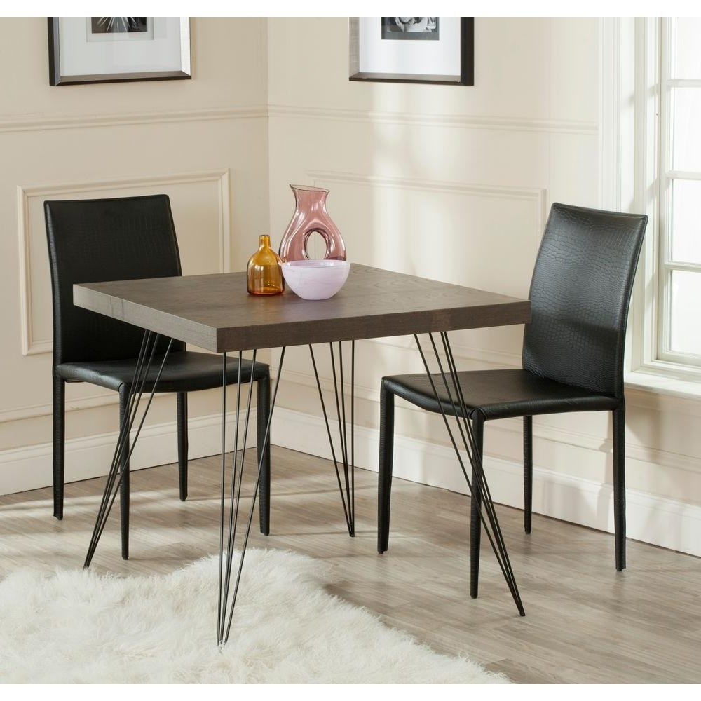 Latest Dark Dining Tables Intended For Safavieh Wolcott Dark Brown And Black Dining Table Fox4205B – The (View 25 of 25)