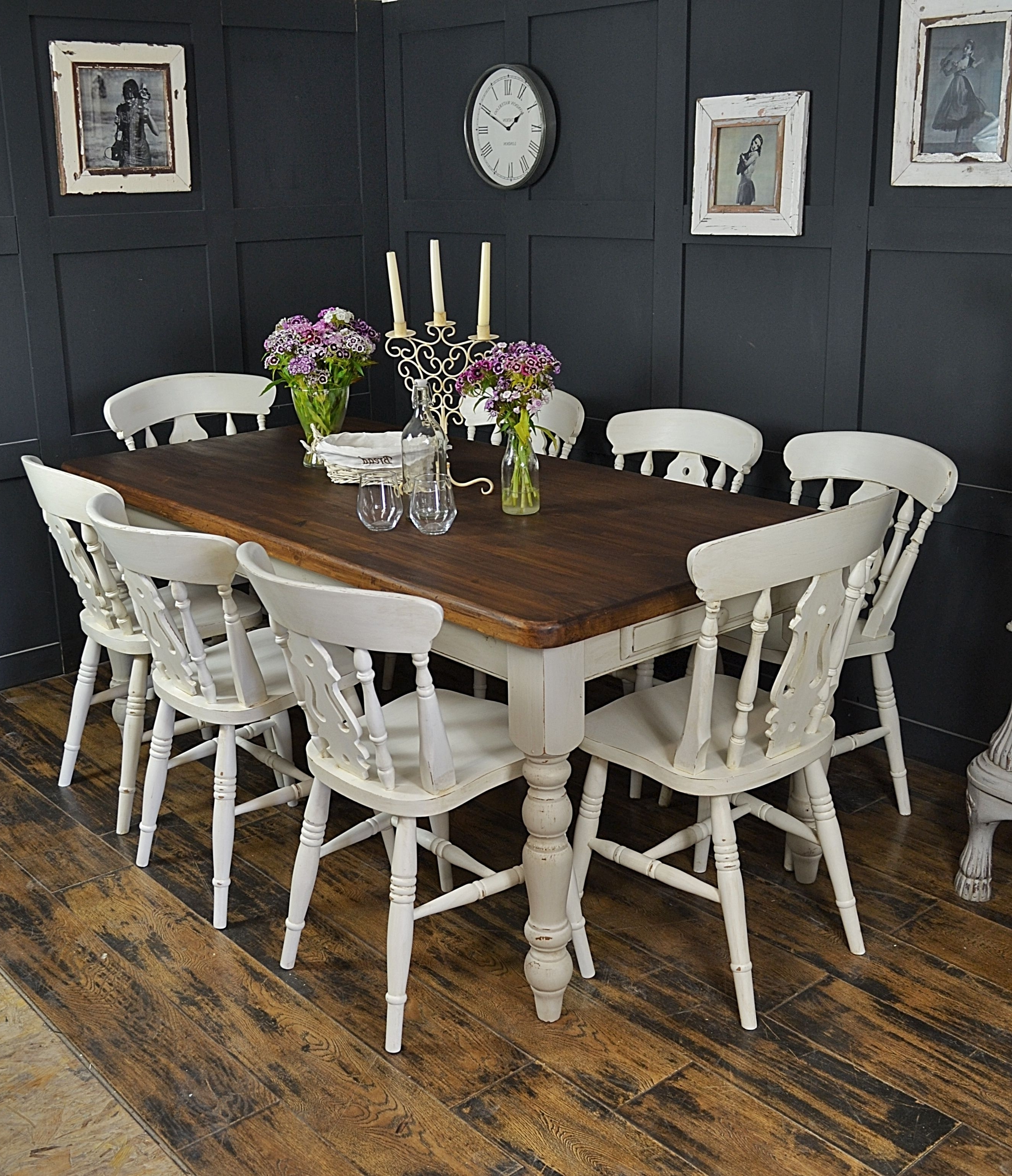 Latest Dine In Style With Our Fabulous 8 Seater Farmhouse Set, Painted In Inside White Dining Tables 8 Seater (View 23 of 25)