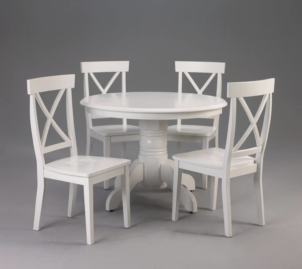 Latest Dining Room: Affordable Round Dining Table Design With Gothic Dining Inside Small Round White Dining Tables (View 19 of 25)