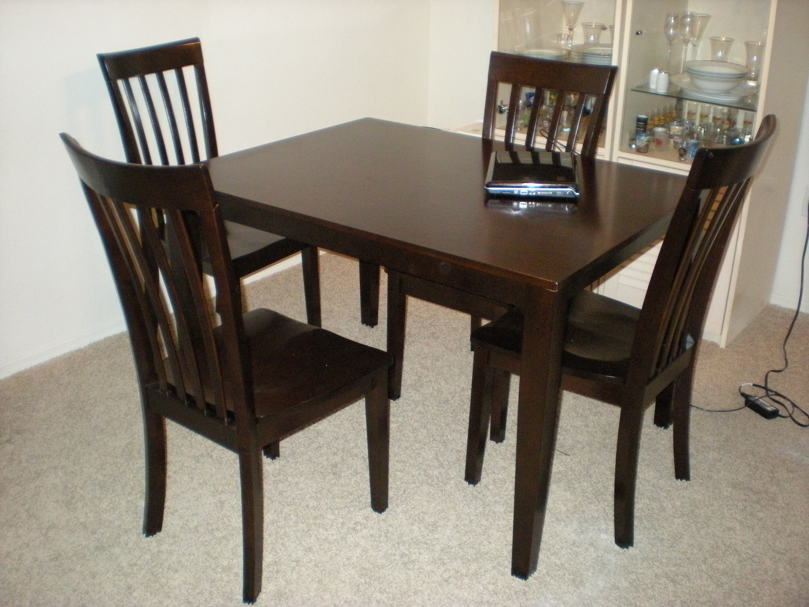 Latest Dining Room: Surprising Wooden Dining Room Furniture, Wood Table Set In Dark Wood Dining Tables And Chairs (View 17 of 25)