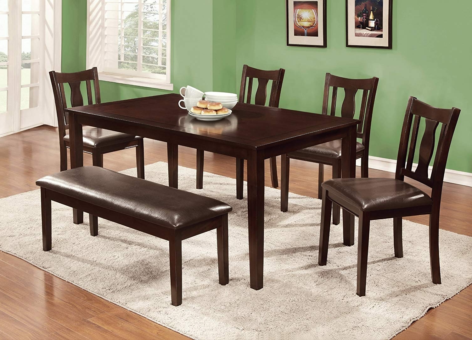 Latest Dining Table Sets With 6 Chairs Throughout Amazon – Furniture Of America Jolene 6 Piece Dining Table Set (View 17 of 25)