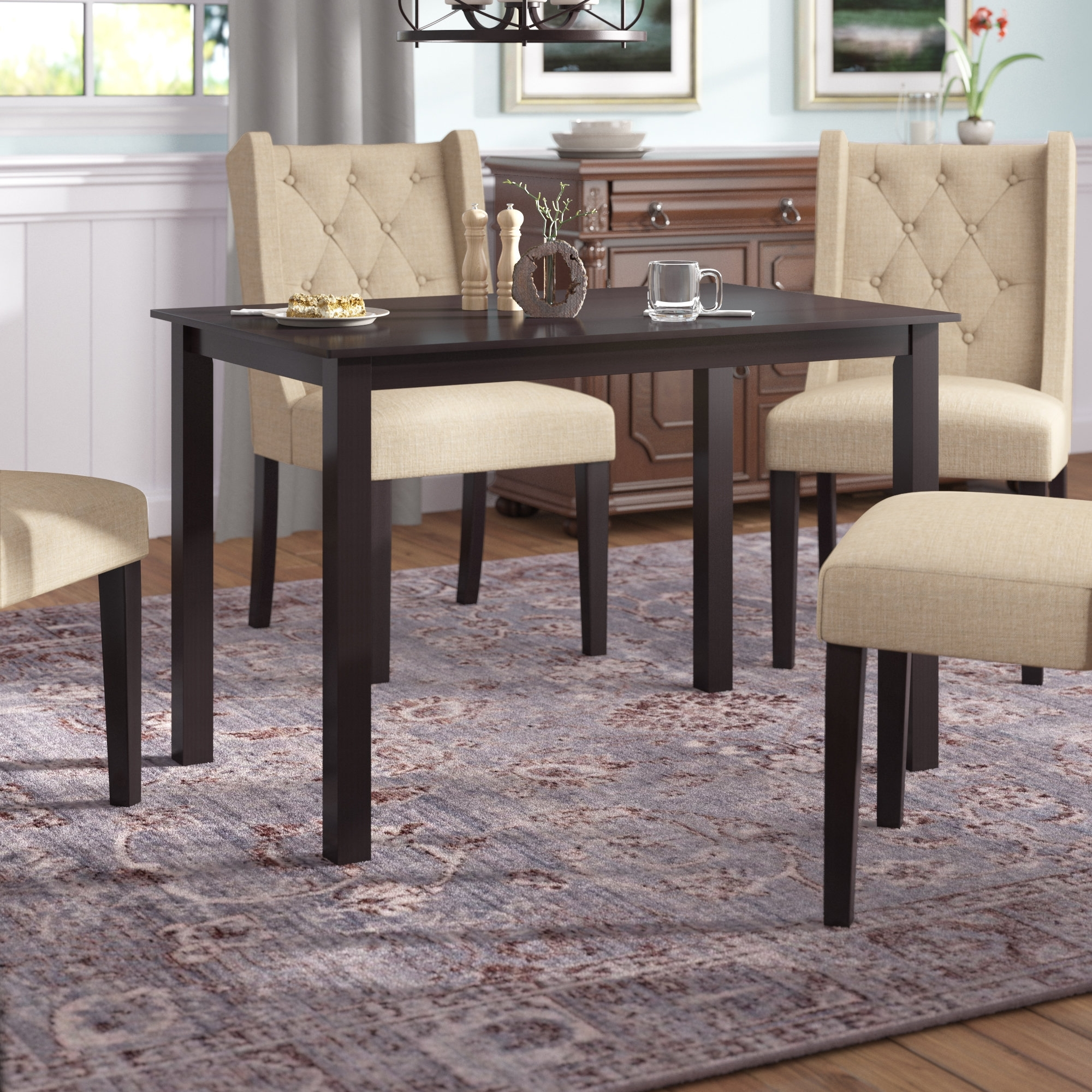 Latest Douglas Solid Wood Dining Table Throughout Solid Wood Dining Tables (View 7 of 25)
