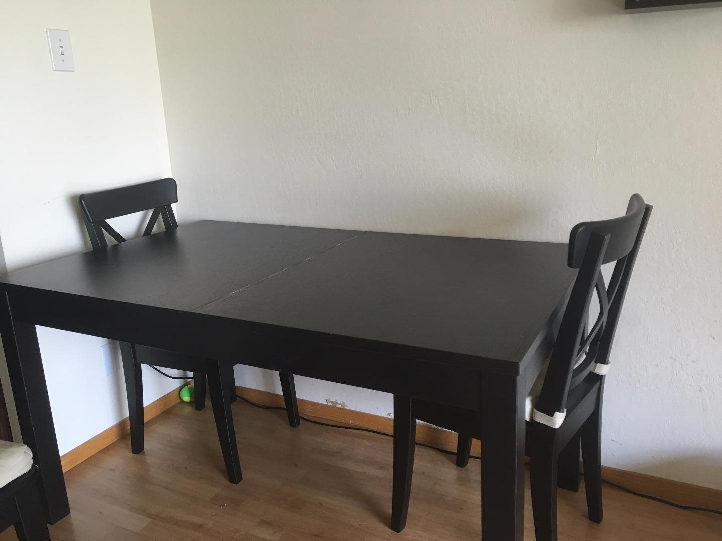 Latest Extendable Dining Tables And 4 Chairs For Ikea Extendable Dining Set With 4 Chairs – Fully Assembled: For Sale (View 14 of 25)