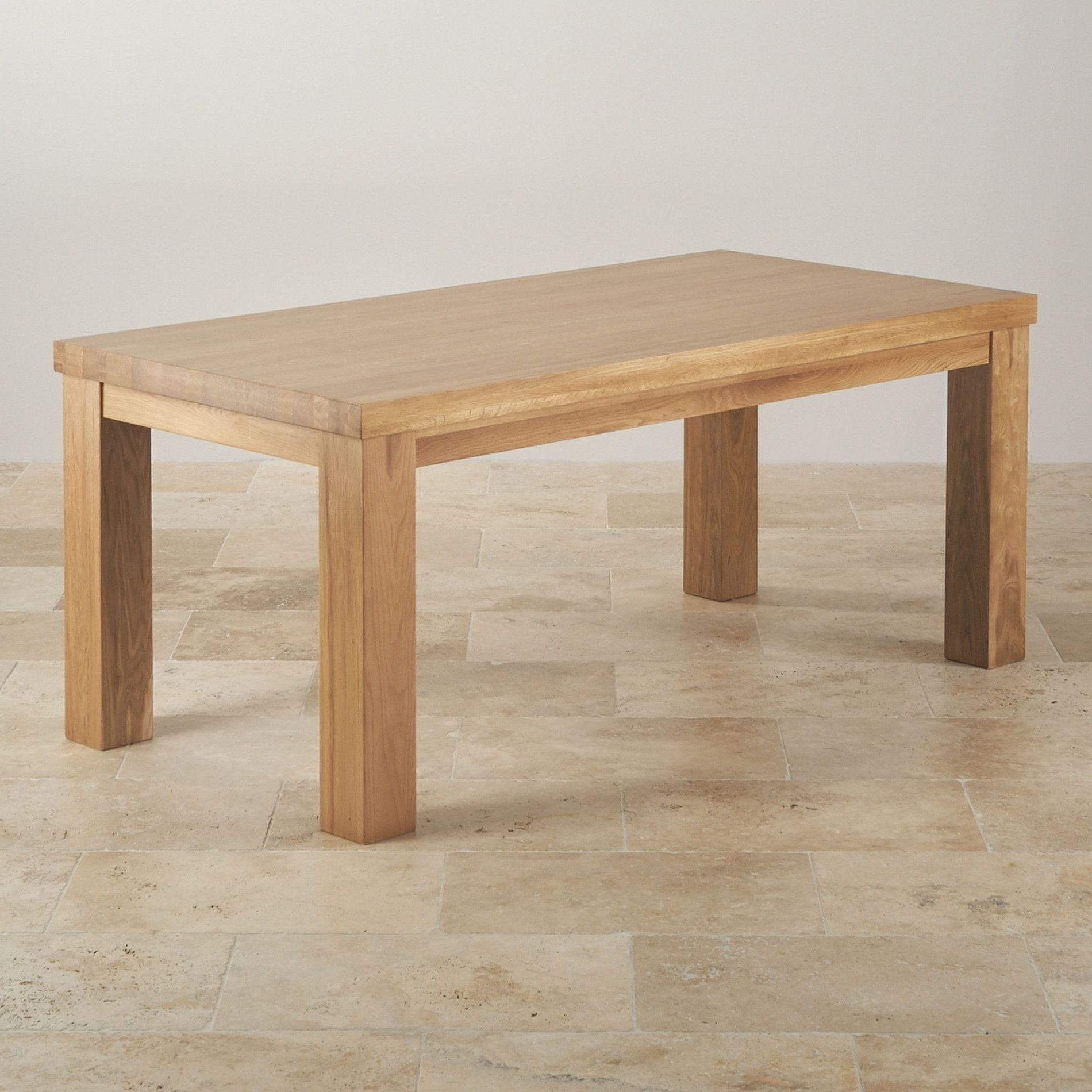 Latest Extending Oak Dining Tables Regarding Wood Dining Tables Contemporary Chunky Solid Oak Table Rustic Round (View 13 of 25)