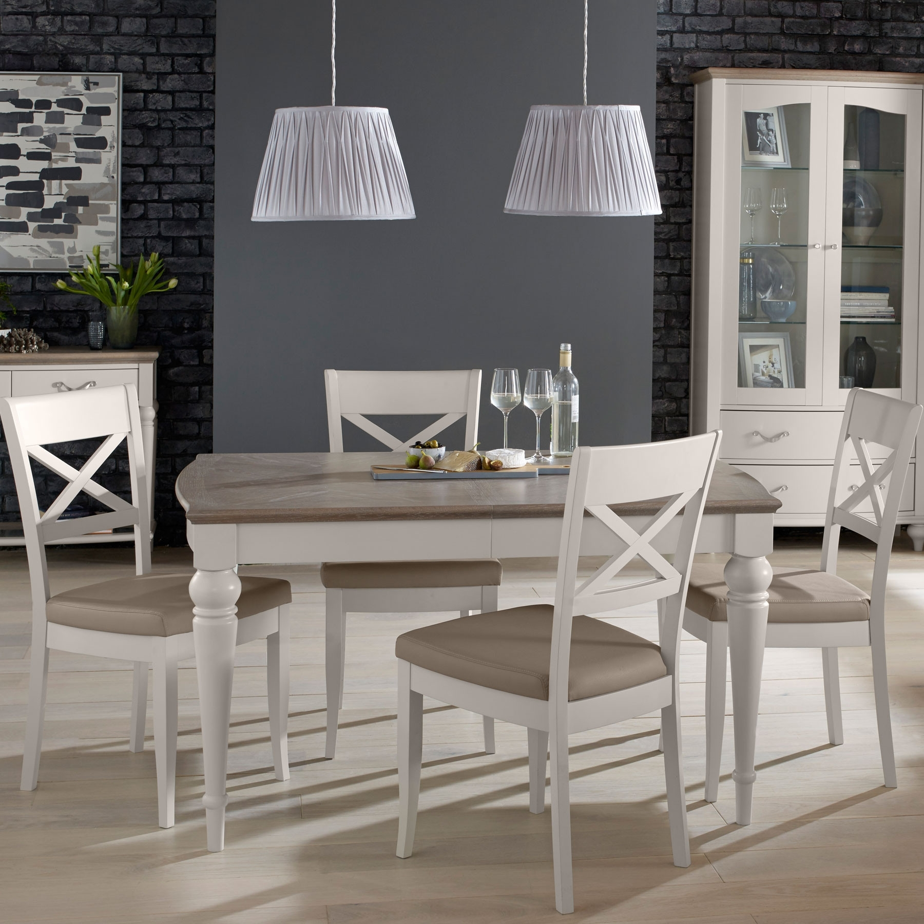 Latest Hampton Small Extending Dining Table & 4 Dining Chairs Throughout Small Extending Dining Tables And Chairs (View 6 of 25)