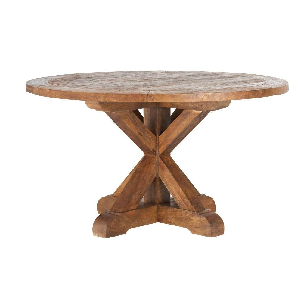 Latest Home Decorators Collection Cane Bark Round Dining Table 9415600860 With Regard To Large White Round Dining Tables (View 24 of 25)