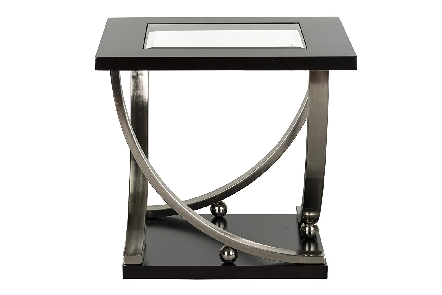 Latest Ina Matte Black 60 Inch Counter Tables With Frosted Glass In Amazon: Standard Furniture Melrose End Table With Casters, Brown (View 9 of 25)