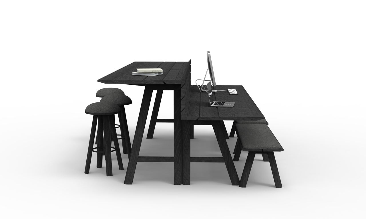 Latest Indoor Picnic Style Dining Tables Within Indoor Picnic Tables For Work, Gathering, Eating Or Play – Design Milk (View 17 of 25)