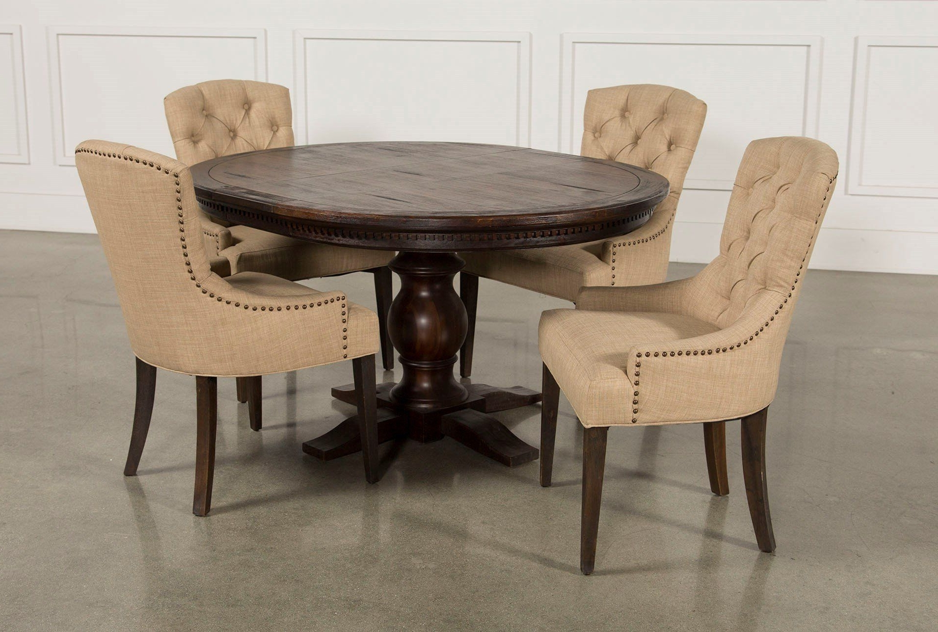 Latest Jefferson 5 Piece Extension Round Dining Set (View 14 of 25)