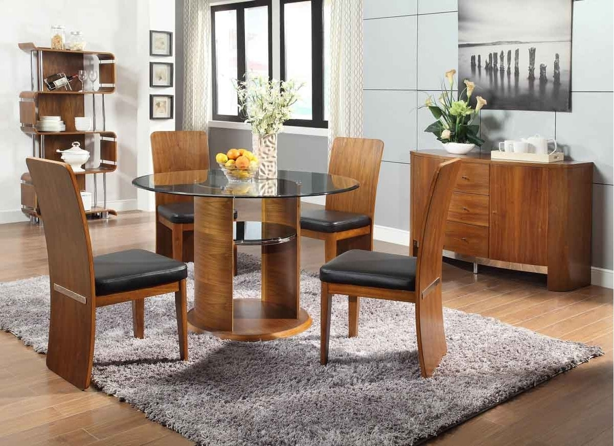 Latest Jual Jf603 Walnut Dining Table, 4 Chairs & Sideboard In Walnut Dining Tables And Chairs (View 9 of 25)