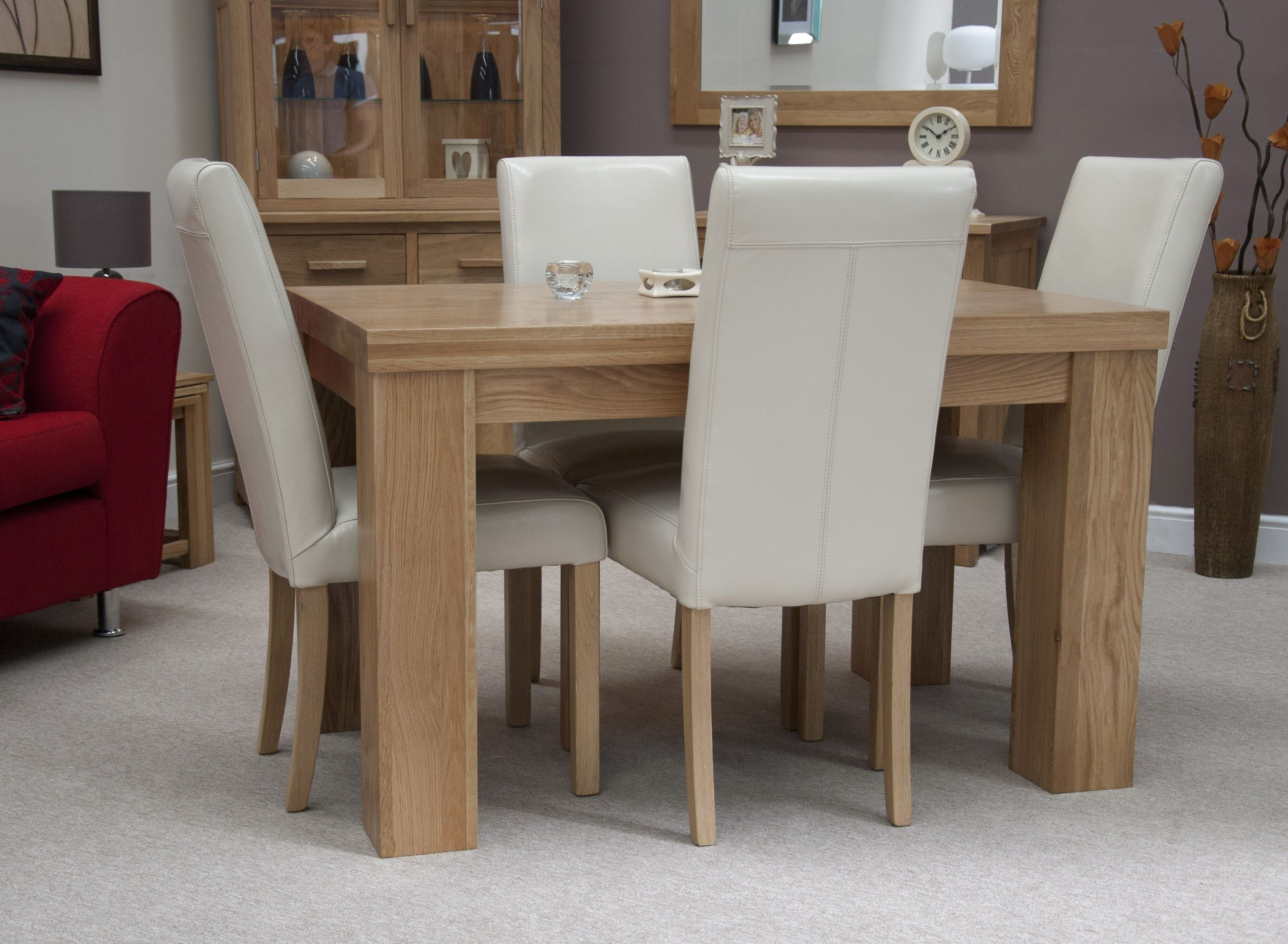 Latest Light Oak Dining Tables And Chairs With Oak Table Set – Castrophotos (View 7 of 25)