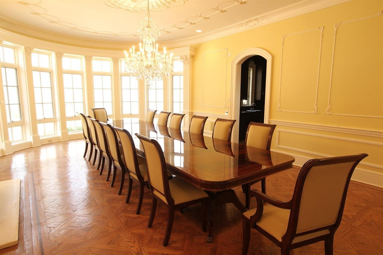 Latest Long Dining Tables Intended For Extra Large 16 Foot Triple Pedestal Mahogany Dining Table (View 11 of 25)