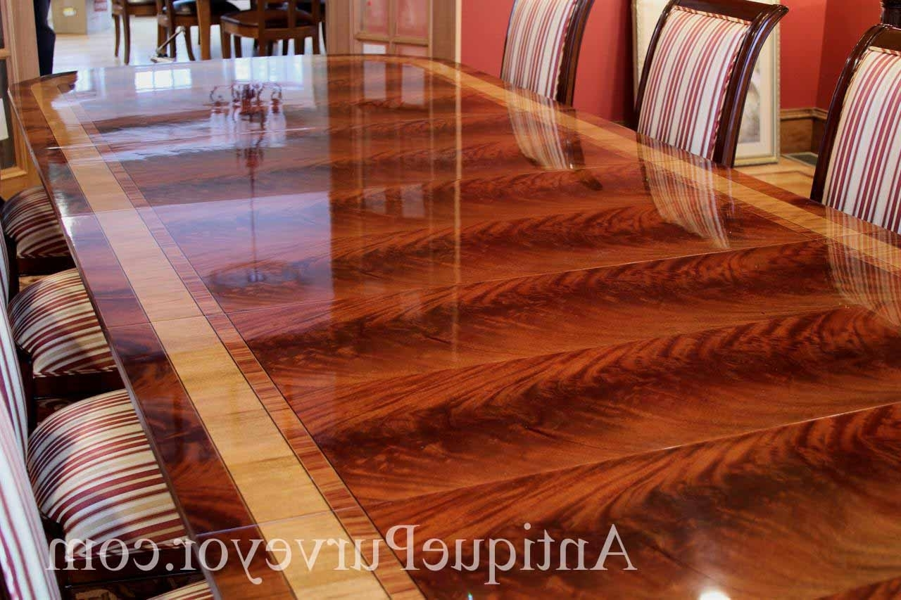 Latest Long Dining Tables Pertaining To 13 Foot Mahogany Dining Table, Antique Style Reproduction (View 17 of 25)
